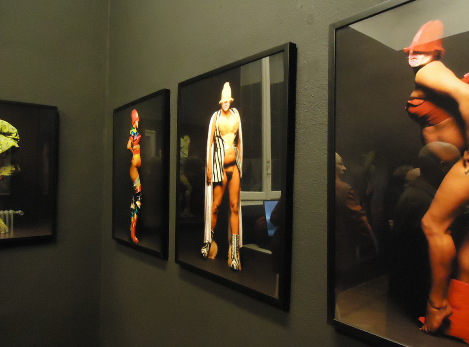 Fergus Greer & Johnny Rozsa - About Leigh Bowery - veduta della mostra presso Camera16, Milano 2012
