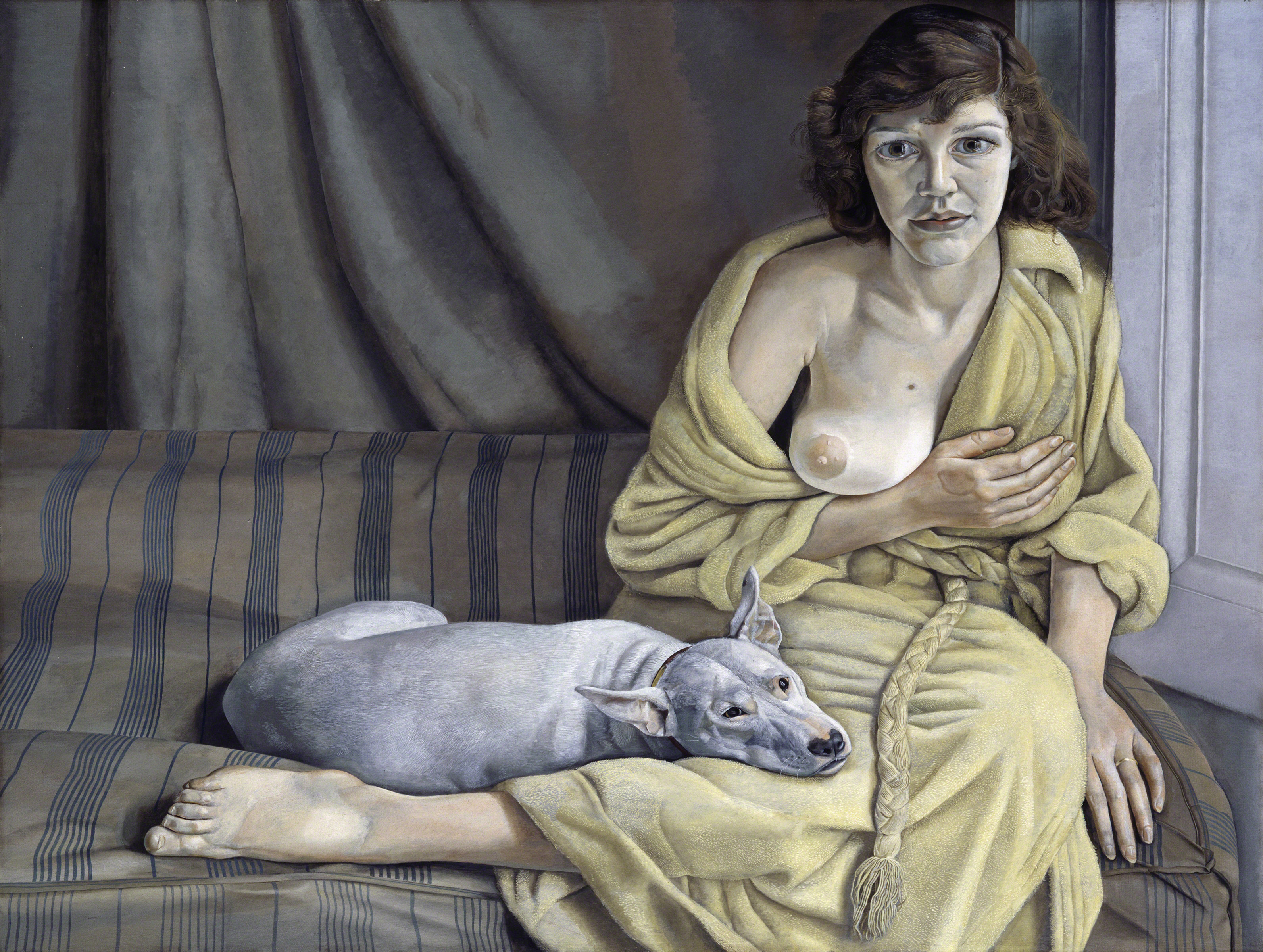 Lucian Freud - Girl with a White Dog - 1950-51 - Tate, Londra