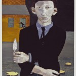 Lucian Freud - Man with a Feather (Self-portrait) - 1943 - coll. privata - photo Lucian Freud Archive