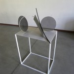 Alice Cattaneo, Untitled, 2012, iron, cable ties, masking tape cm106 x 60 x 70- Galleria Suzy Shammah