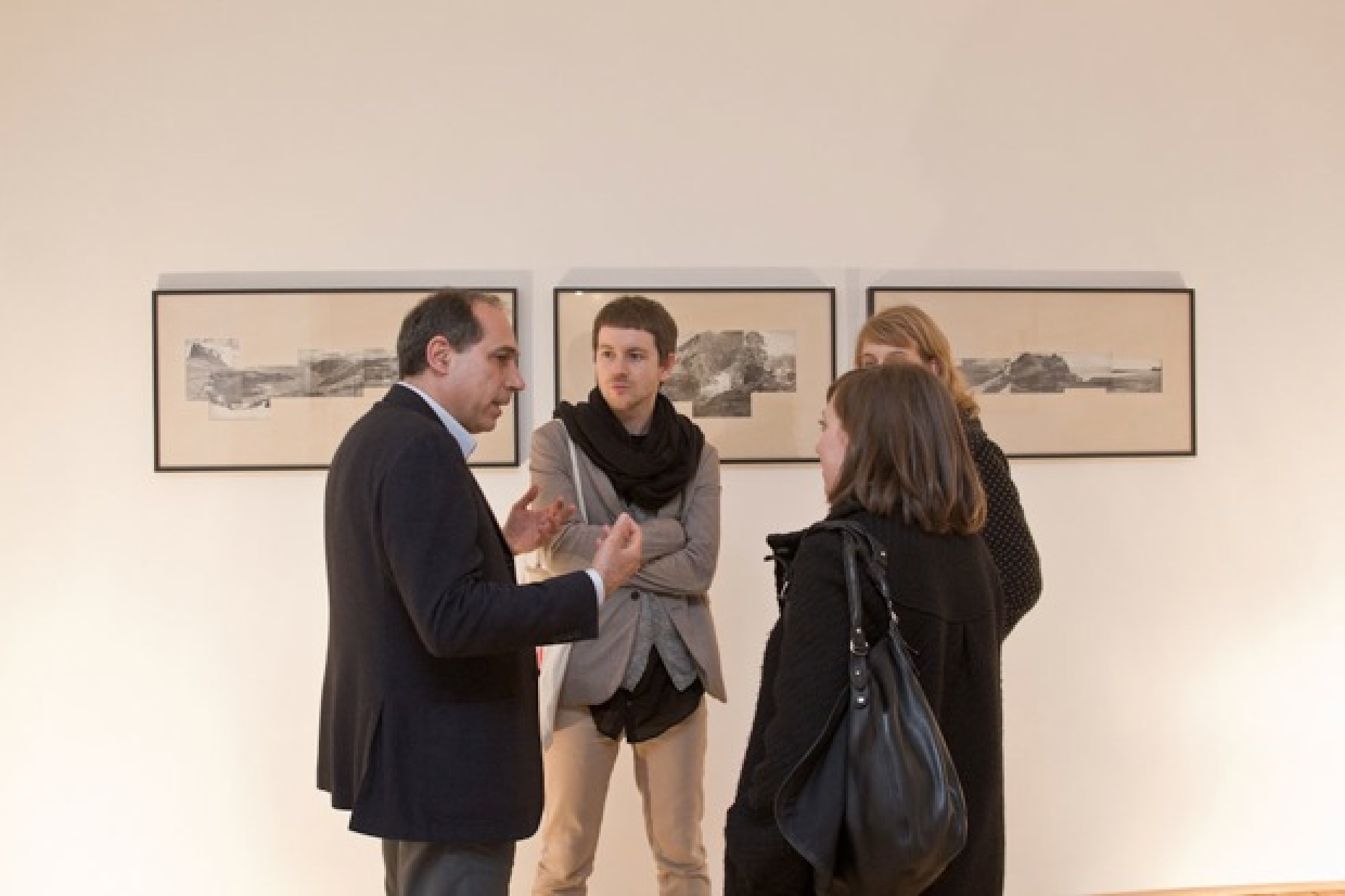 Fabrizio Del Signore from The Gallery Apart with guests at the DROME project space opening cocktail, Brussels, photo by Gunter Blokken, courtesy DROME magazine  PHLEGMATICS