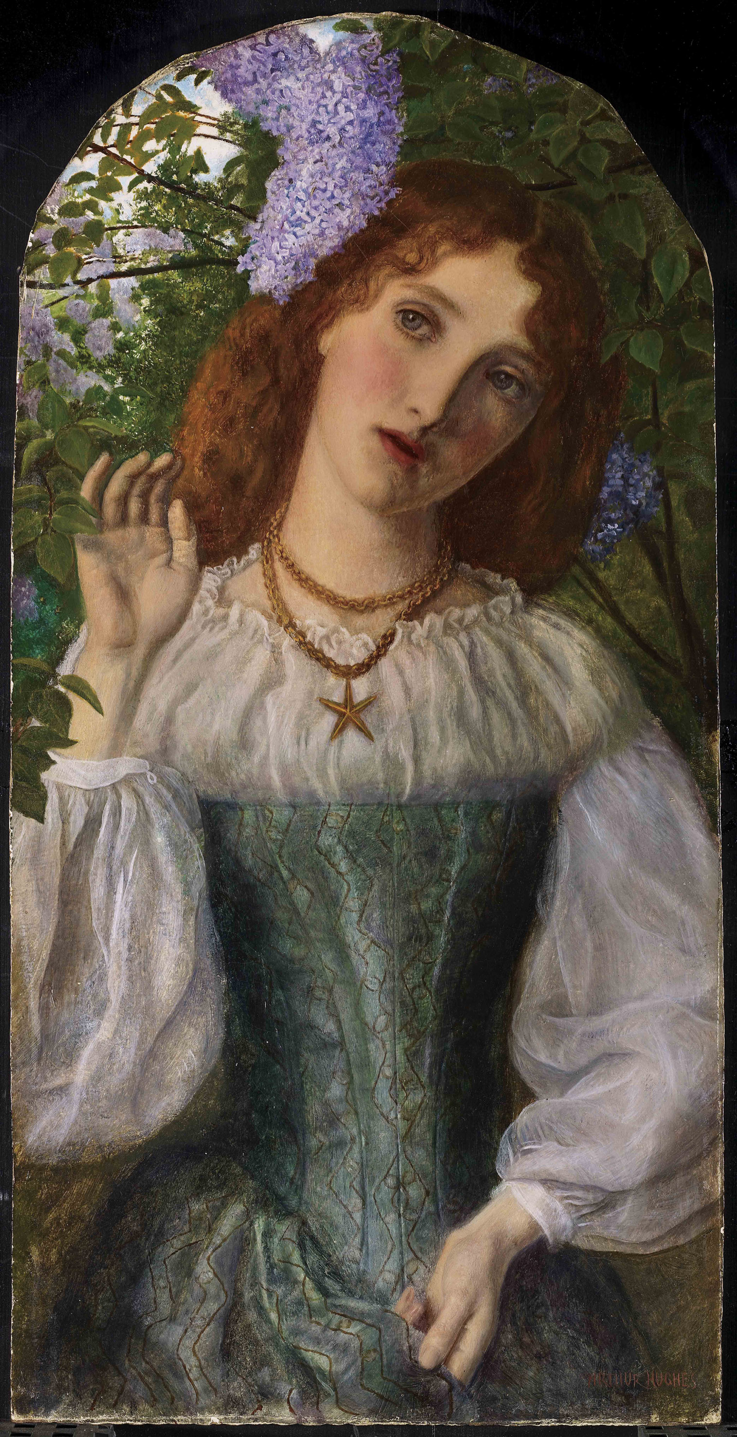 Arthur Hughes - The Lady with the Lilacs - 1863 - Art Gallery of Ontario, Toronto
