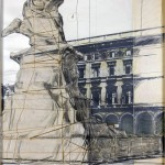 Christo - Wrapped monument to Vittorio Emanuele (project for Milano, Piazza Duomo) - 1970