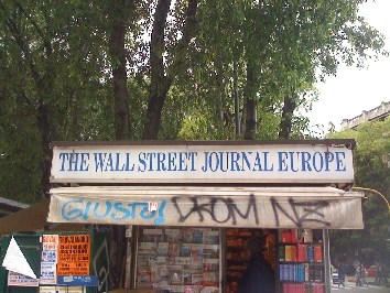 The Wallstreet Journal Europe, pubblicità a Bergamo