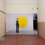 Ryan Gander - Human's being human (blue on yellow) - 2012 - courtesy the artist & gb agency, Paris