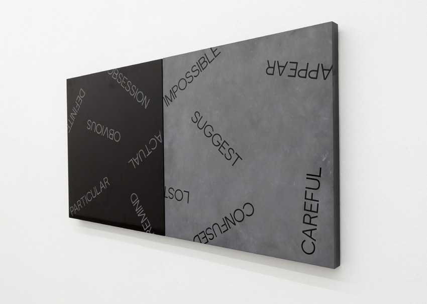 Robert Barry - Black Marble Diptych - 2012