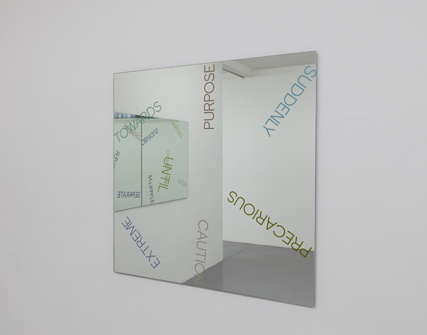 Robert Barry - Mirrorpiece with multicolored words - 2011