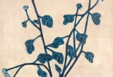 Sanyu, Blue Chrysanthemums in a Glass Vase