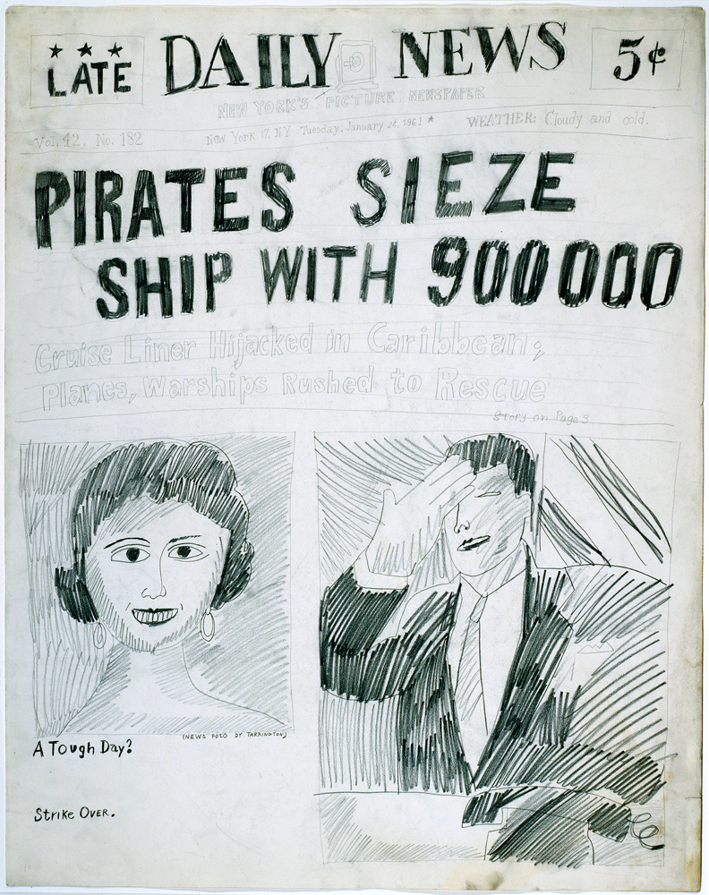 Andy Warhol - Pirates Sieze Ship - 1961 - The Andy Warhol Museum, Pittsburgh