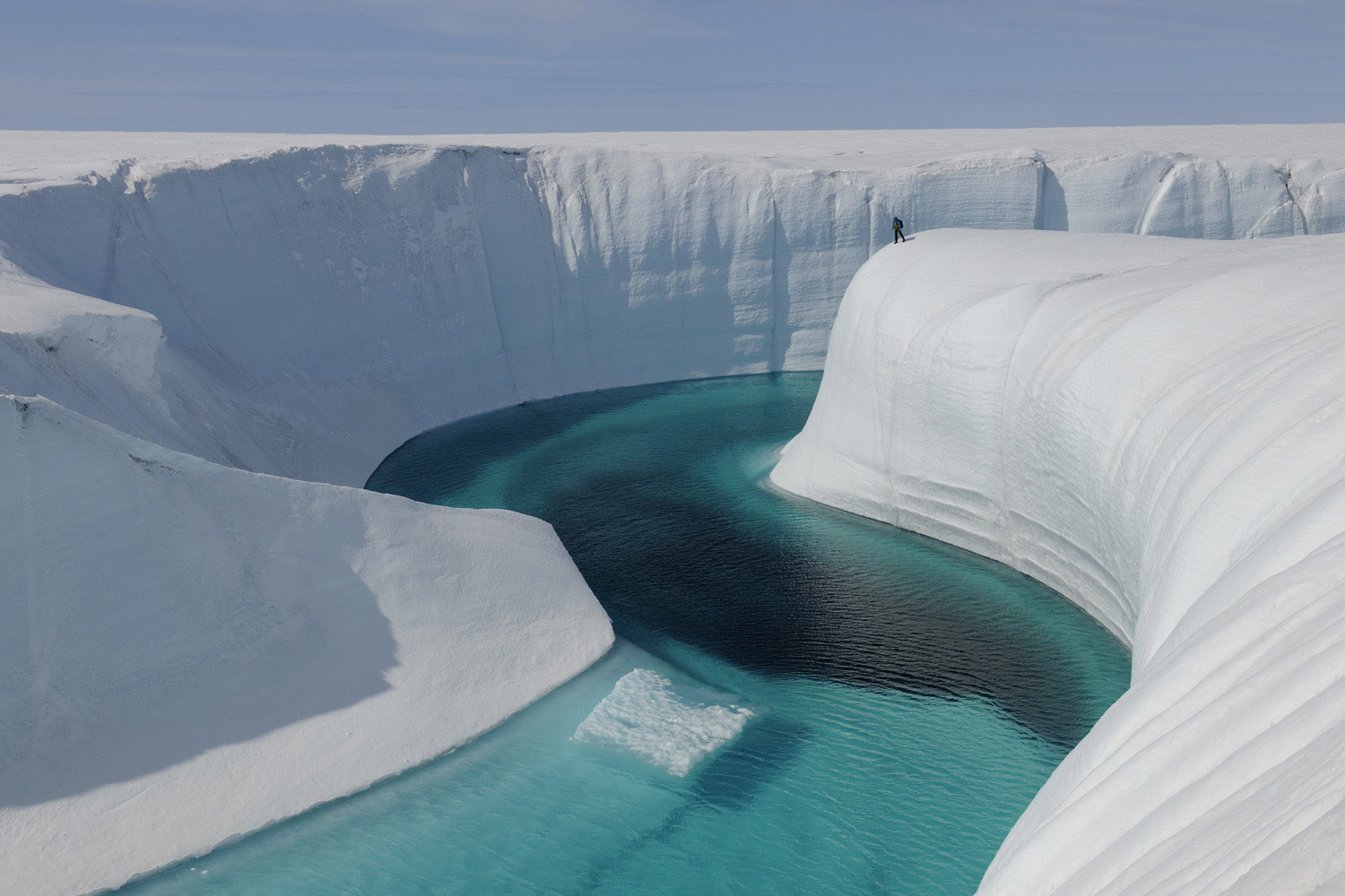 Greenland ice sheet - Birthday Canyon
