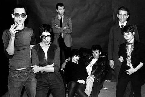I filmmaker Scott B. and Beth B., Diego Cortez, Lydia Lunch, Johnny O'Kane, Bill Rice e Adele Bertei dei Contortions. New York City, 1979