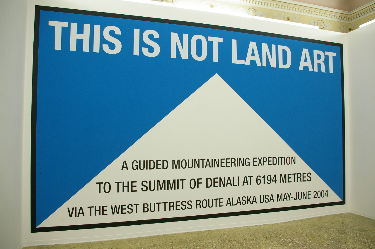 Hamish Fulton - This is not Land Art - wall painting alla Galleria Michela Rizzo, Venezia 2012