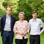 Jasper Sharp, il ministro Claudia Schmied, Mathias Poledna  Foto Georg Molterer