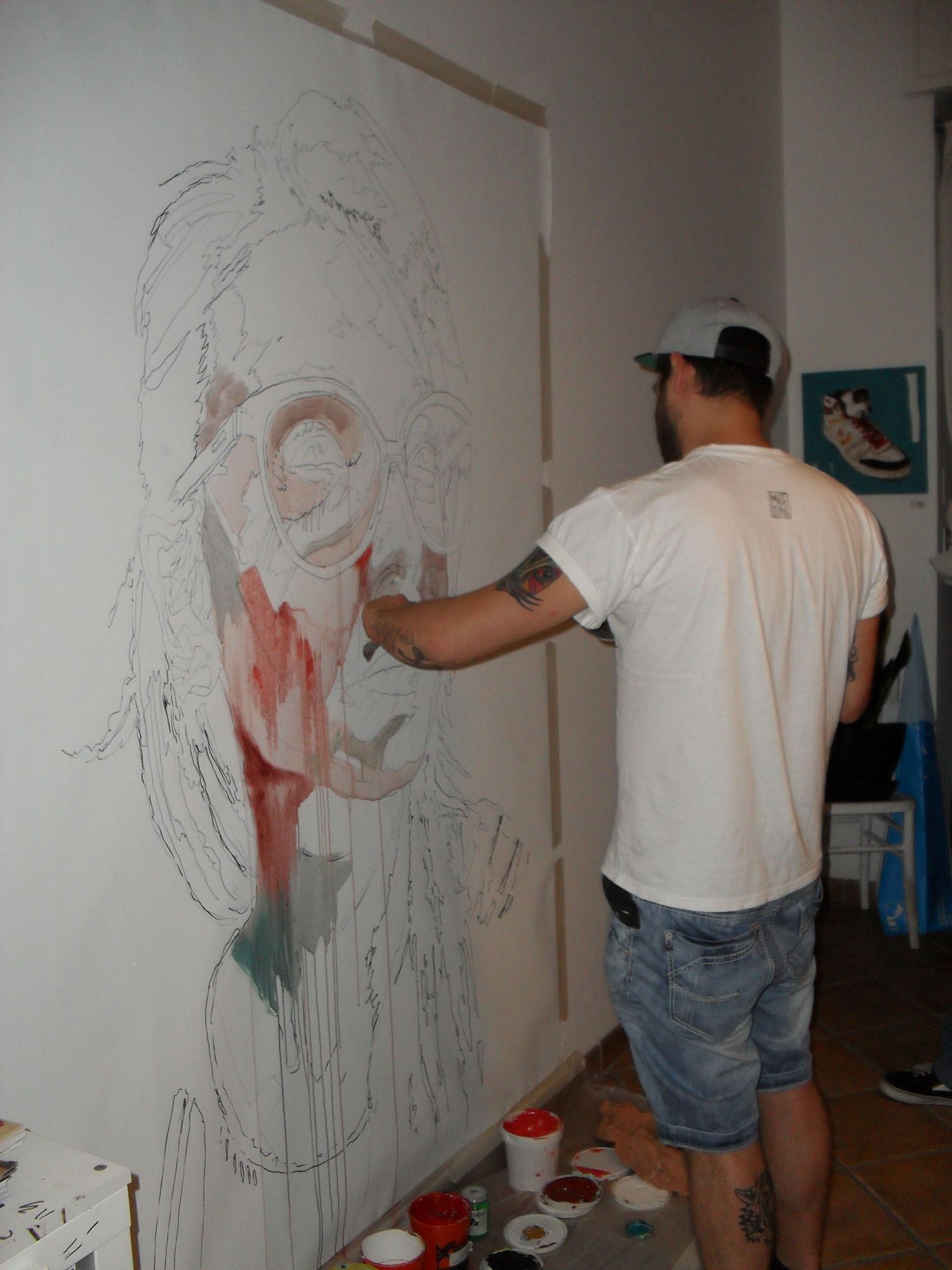 Live Painting di Max Petrone