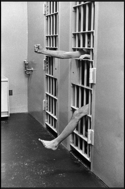 Henri Cartier-Bresson - USA. New Jersey. Model prison of Leesburg. Solitary confinement - 1975