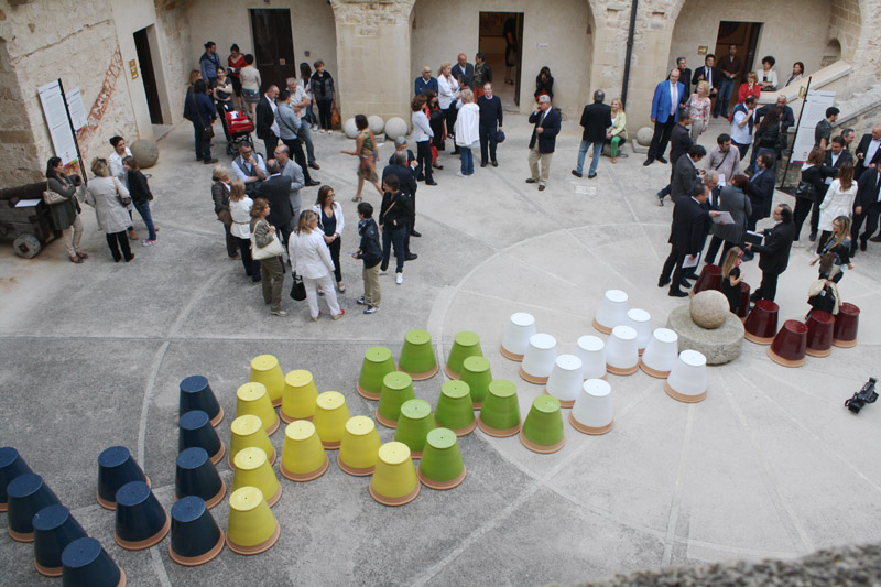 Andy Warhol – I want to be a machine - veduta dell'inaugurazione presso il Castello Aragonese, Otranto 2012