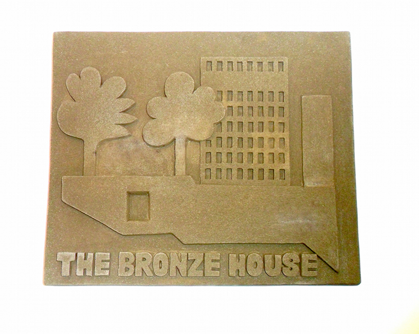10 Plamen Dejanoff, The Bronze House (Relief II), 2011-2012, lava, cm 50x58x7
