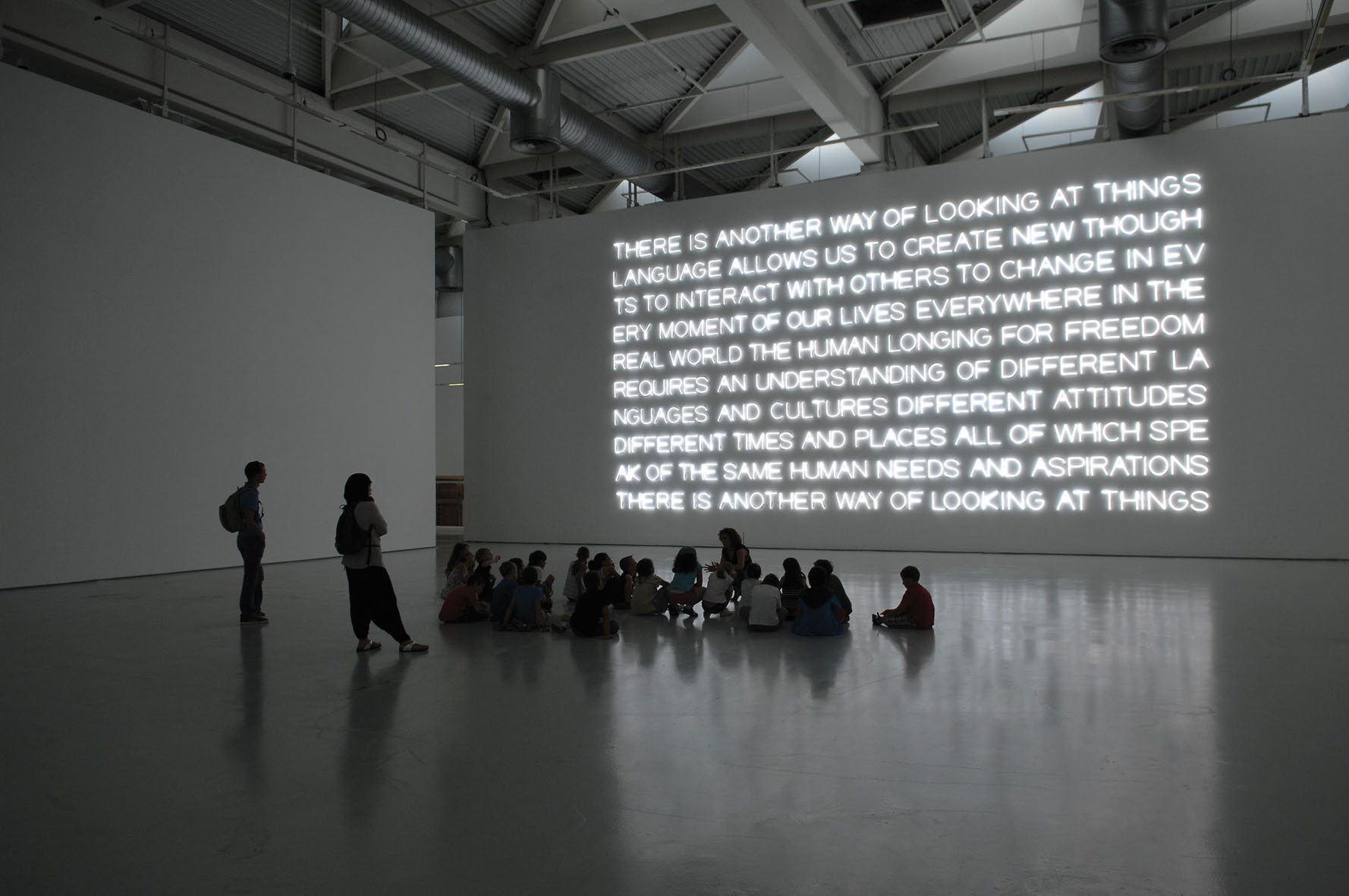 Maurizio Nannucci, There is another way…, 2012, neon intallation, 1200 x 60 x 5 cm
