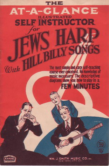 Copertina di At-A-Glance Illustrated Self Instructor For Jews Harp With Hillbilly Songs, 1932