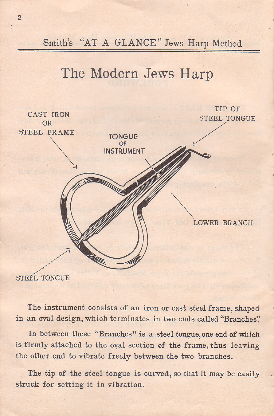 Da At-A-Glance Illustrated Self Instructor For Jews Harp With Hillbilly Songs, 1932-2