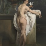 Francesco Hayez, Venere che scherza con due colombe (Ritratto della ballerina Carlotta Chabert), 1830, olio su tela, 183 x 137 cm, Mart