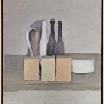 Giorgio Morandi, Natura morta, 1956, olio su tela,   40,5 x 35,4 cm, Mart, Museo di arte moderna e contemporanea di Trento e Rovereto, Collezione Augusto e Francesca Giovanardi