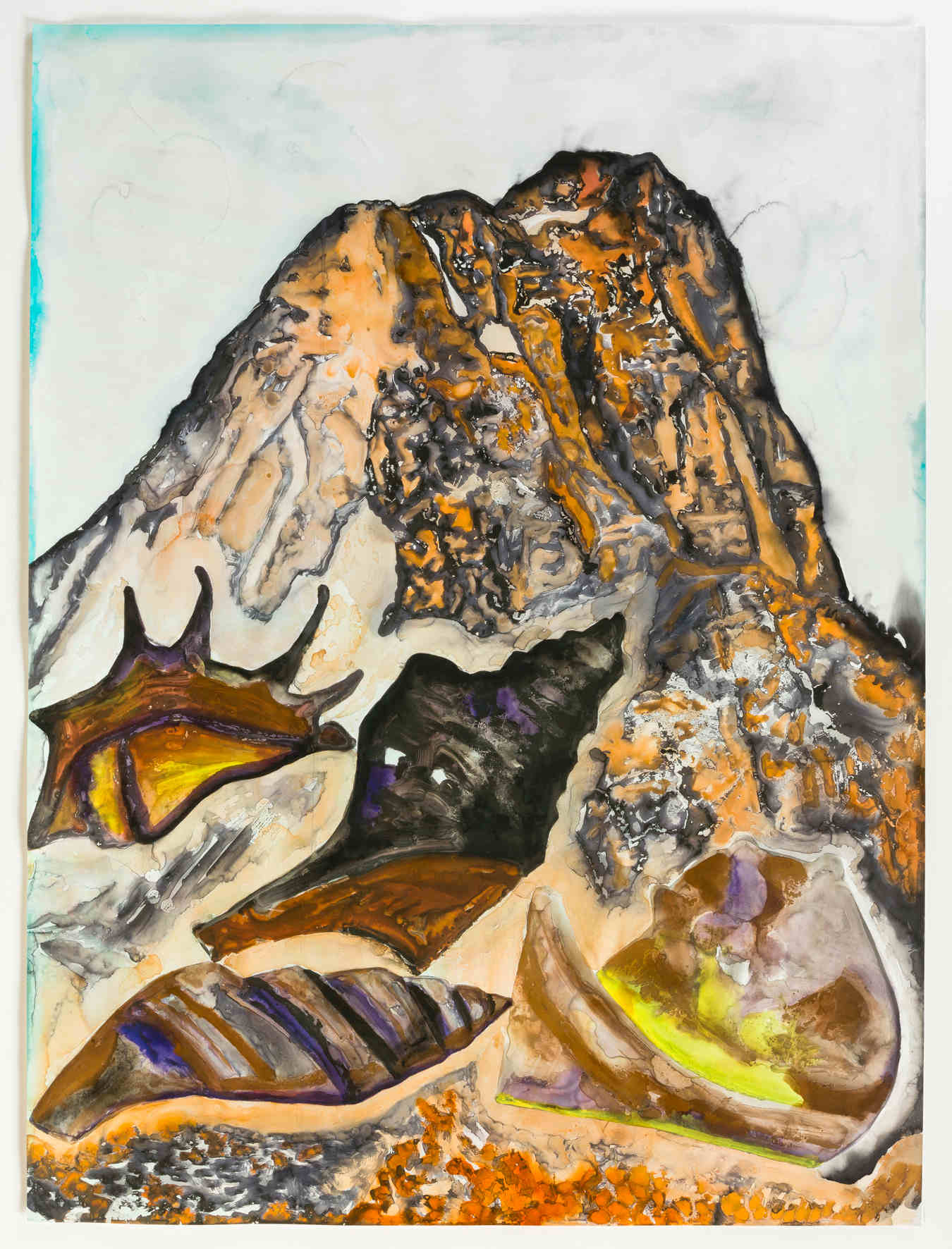Francesco Clemente - Letters and Mountains III - 2012
