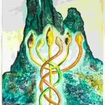 Francesco Clemente - Letters and Mountains V - 2012