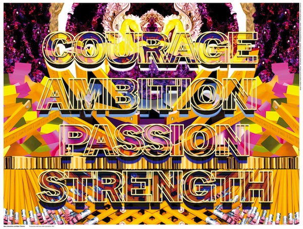 Mary Katrantzou + Mark Titchner, Tint the Pallid Landscape (off to the wars in lace), 2012