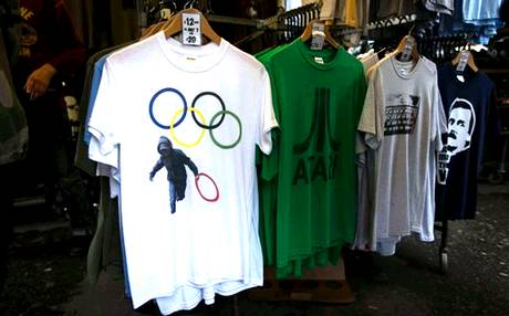 Olympic t-shirt, ispirate al graffito di Crimial Chalkist