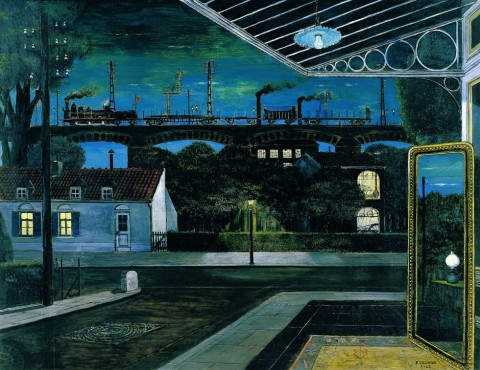 Paul Delvaux - El viaducto, 1963