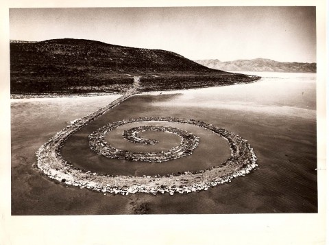 Robert Smithson, Spiral Jetty -  Rozel Point, Great Salt Lake, Utah - April 1970