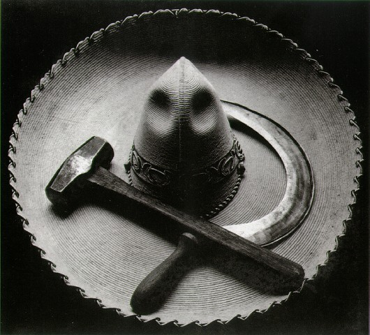 Tina Modotti – Mexican sombrero with hammer and sickle, 1927