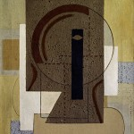 Willi Baumeister, Figura inclinata, 1920, Olio su cartone, Stoccarda, Archiv Baumeister im Kunstmuseum Stuttgart