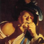 dirck van baburen, man playing a jews-harp, 1621