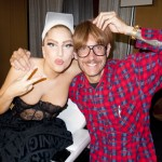 Lady Gaga e Terry Richardson, backstage prima dello show di Helsinki - foto © Terry Richardson
