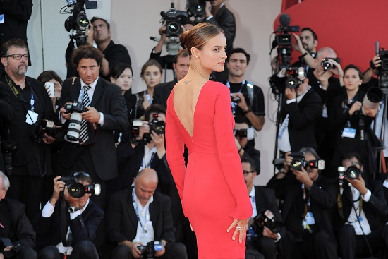 Kasia Smutniak, woman in red sul red carpet