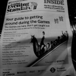 la guida del Transport for London sull' Evening Standard (foto Martina Federico)