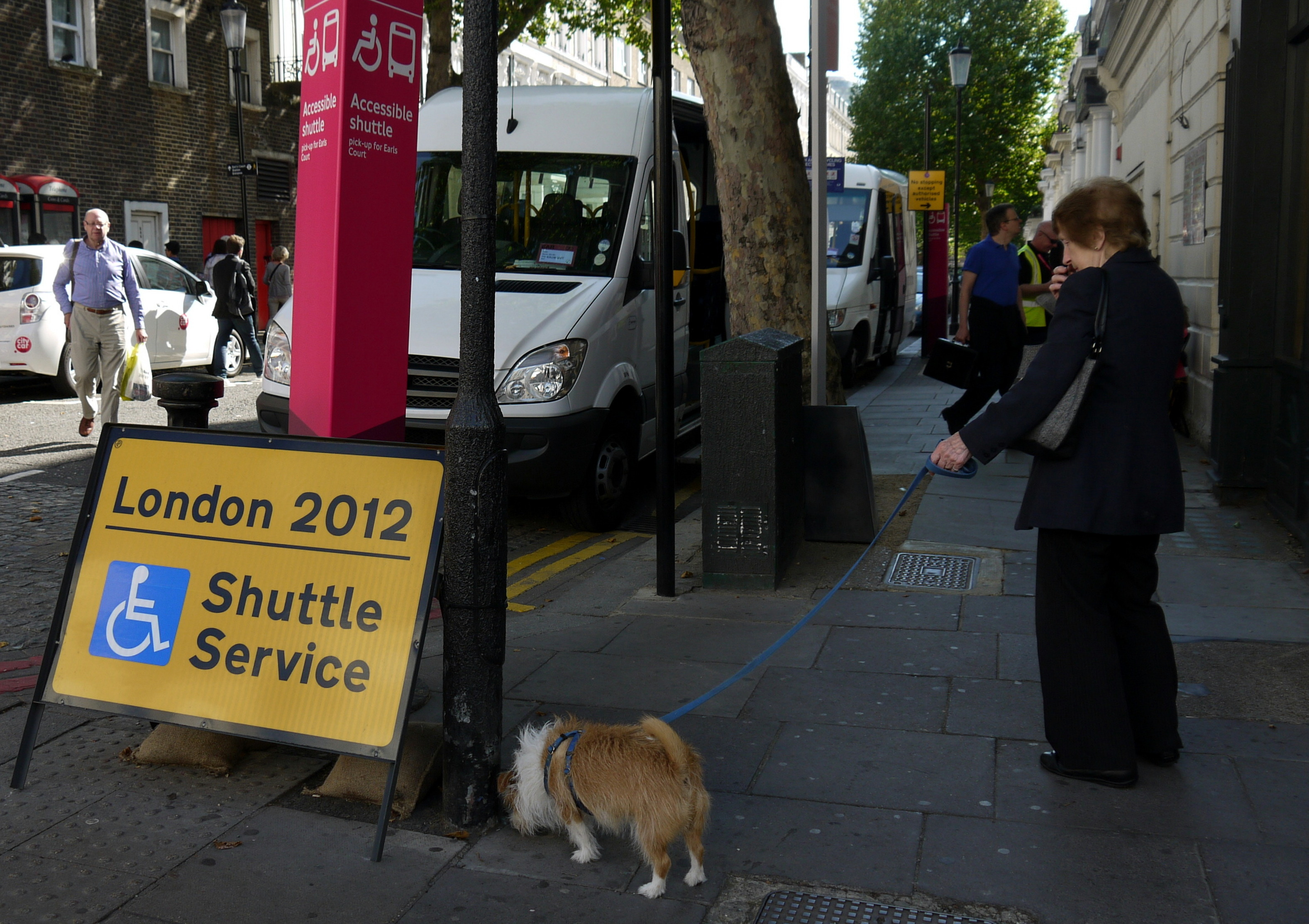 london 2012 shuttle service a Earl's Court (foto Martina Federico)