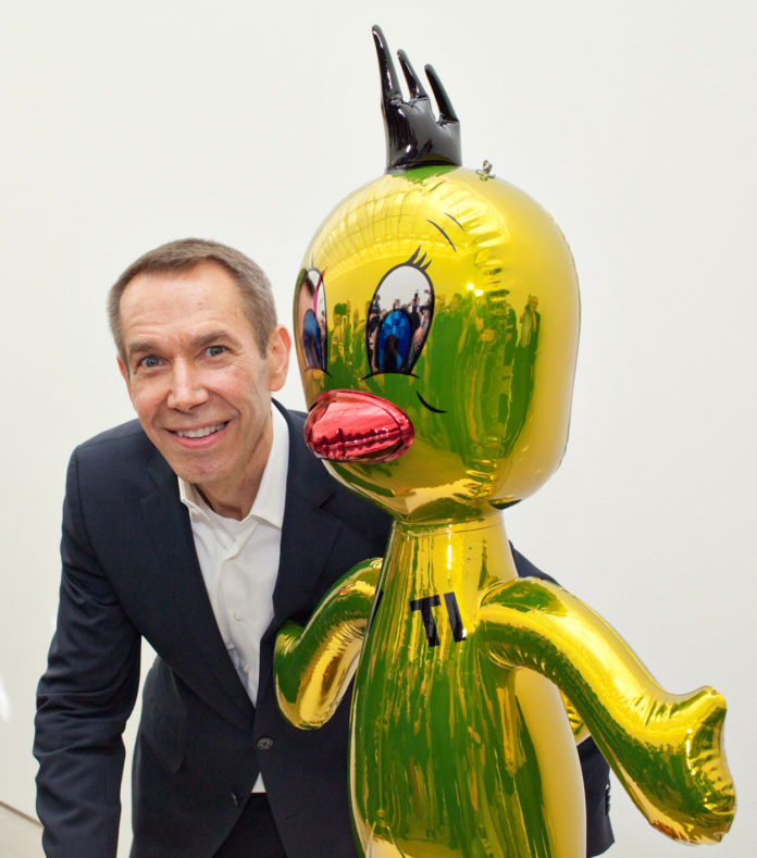 Jeff Koons alla Fondation Beyeler nel 2012 con Titi - 2004-09 - © Jeff Koons - photo © Matthias Willi