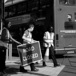 road closed in Cromwell Road1 (foto Martina Federico)