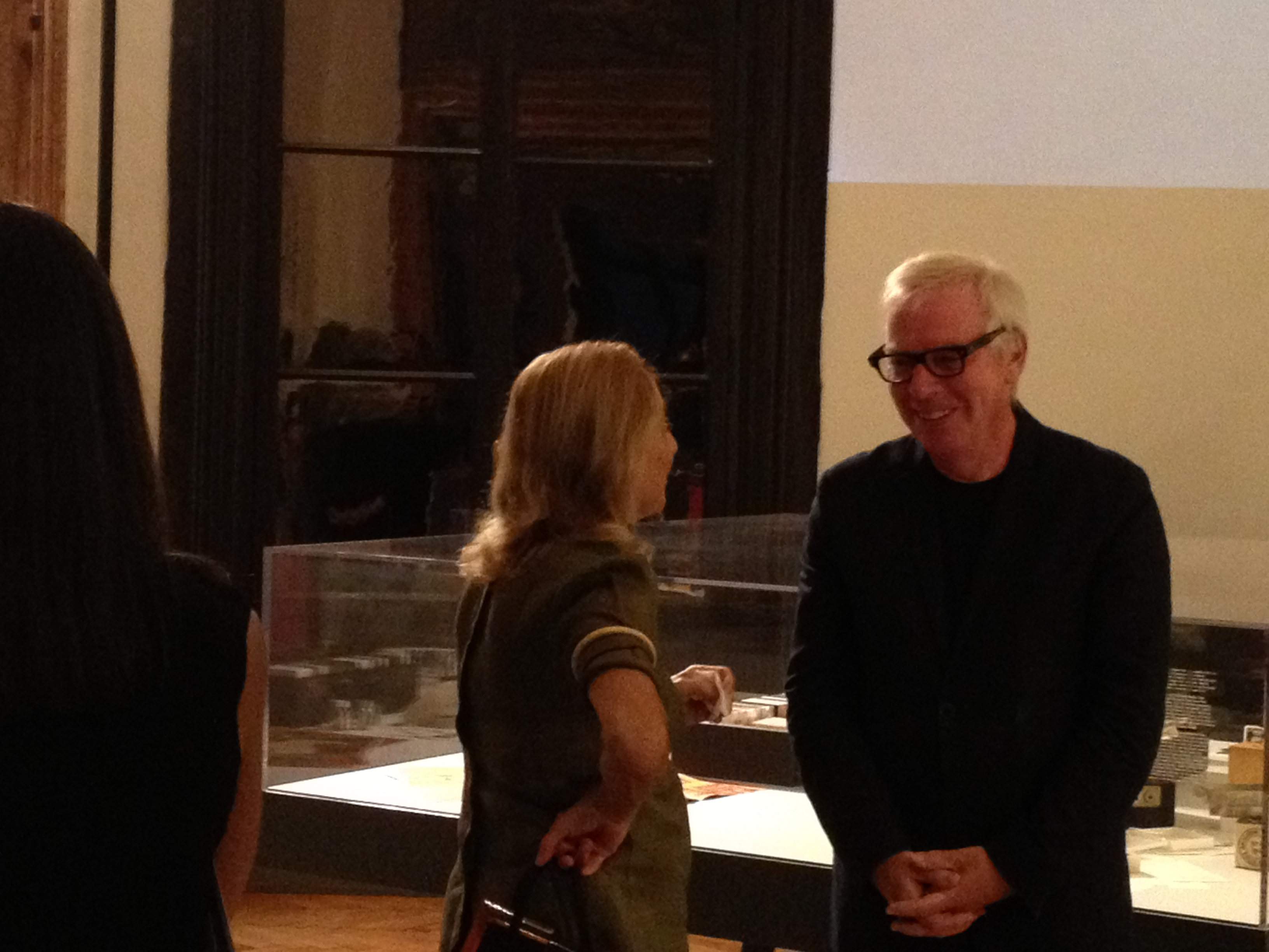 David Chipperfield e Miuccia Prada