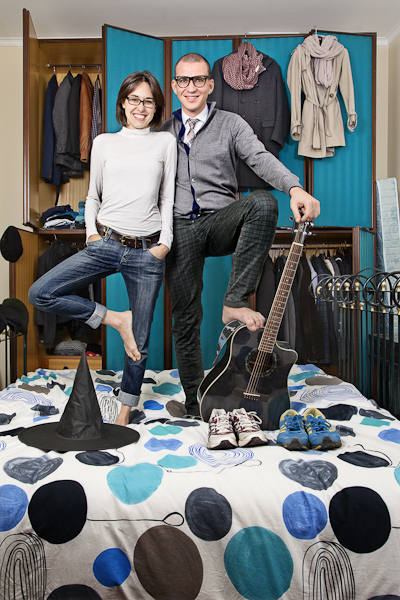 Pietro Baroni, Milan closets, 2012 (Elena and Francesco. They want to run a marathon)