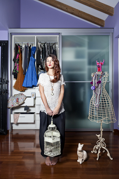 Pietro Baroni, Milan closets, 2012 (Francesca, designer. She's capricious and whimsical)