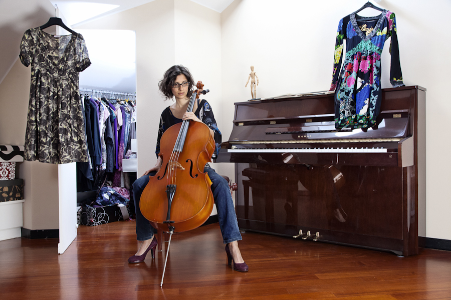 Pietro Baroni, Milan closets, 2012 (Francesca, writer. She's a musician too. She lives in Milan and Japan)