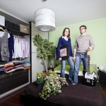 Pietro Baroni, Milan closets, 2012 (Simona, teacher and Simone, engineer. She cook, he runs)