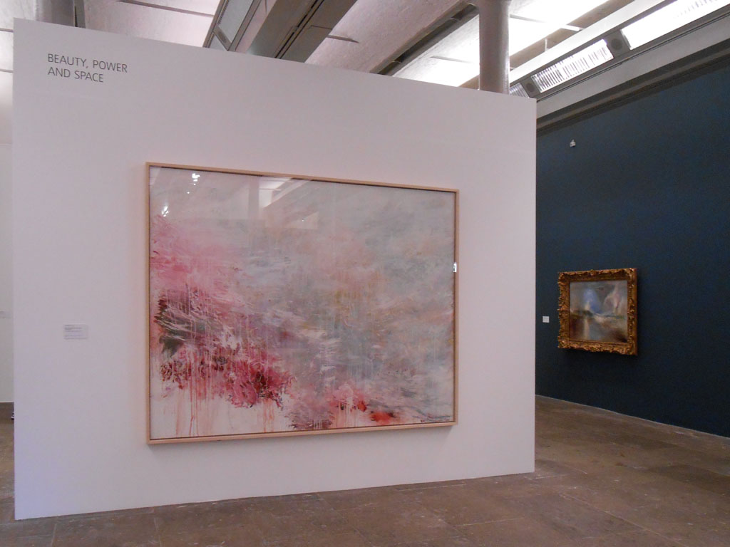 Turner Monet Twombly: Later Paintings - veduta della mostra presso la Tate Liverpool, Liverpool 2012 - in primo piano Cy Twombly, Hero and Leandro (To Christopher Marlowe) (1985)