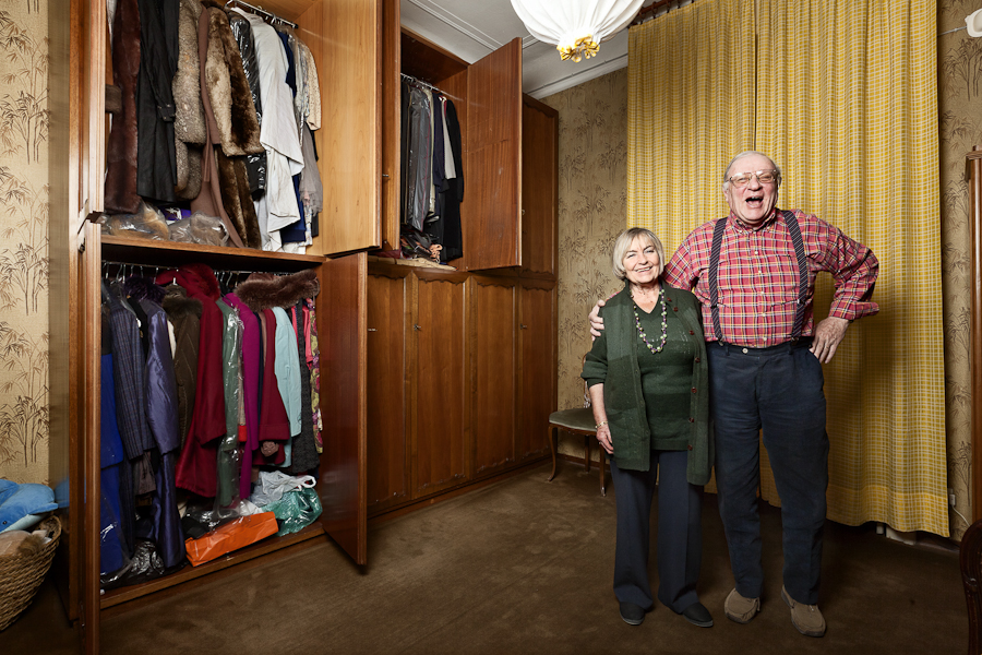 Pietro Baroni, Milan closets, 2012 (The Contini's, pensioners. He has a miniatures collection. She bears them)