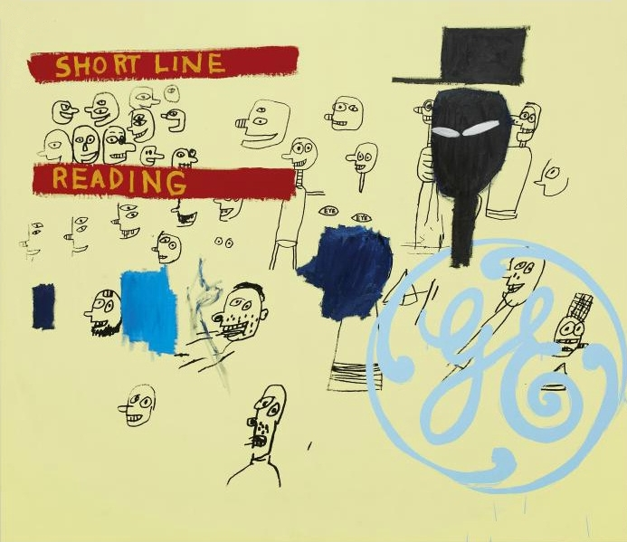 Andy Warhol e Jean-Michel Basquiat, GE Short Line & Reading, 1984-85