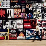 Graphic work by William Klein for book covers, film posters and magazines  (installation view) - copyright William Klein, foto JFernandes, Tate Photography